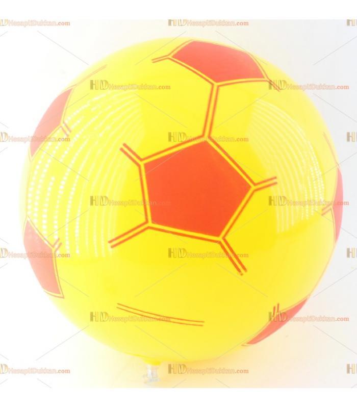 Toptan plastik hayvan şişme balon deniz topu sarı kırmızı