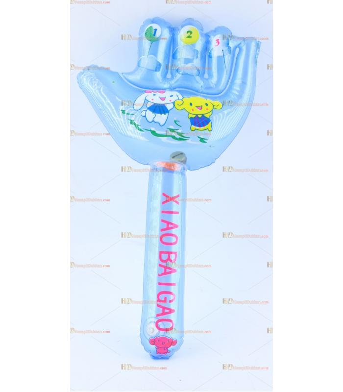 Toptan plastik hayvan şişme balon el şeklinde mavi