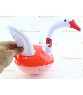 Toptan plastik hayvan şişme balon kuğu beyaz kırmızı