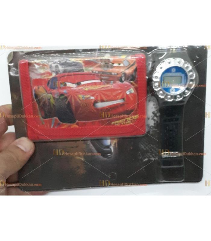 Toptan çocuk saat cüzdan set arabalar