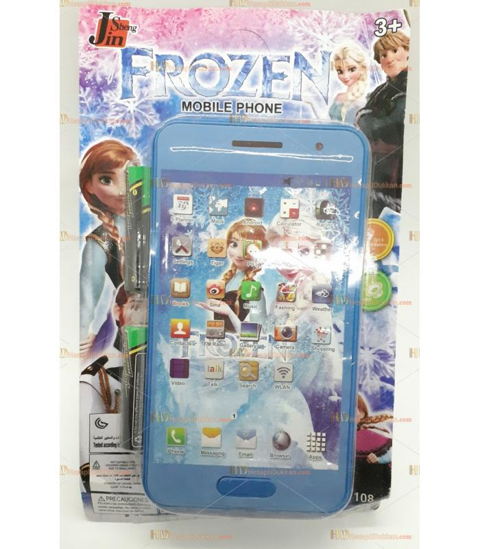 Toptan 3d telefon sesli müzikli kartela telefon frozen