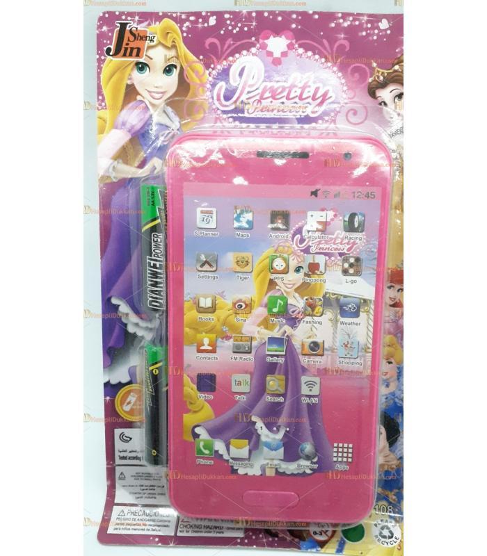 Toptan 3d telefon sesli müzikli kartela telefon prensesler