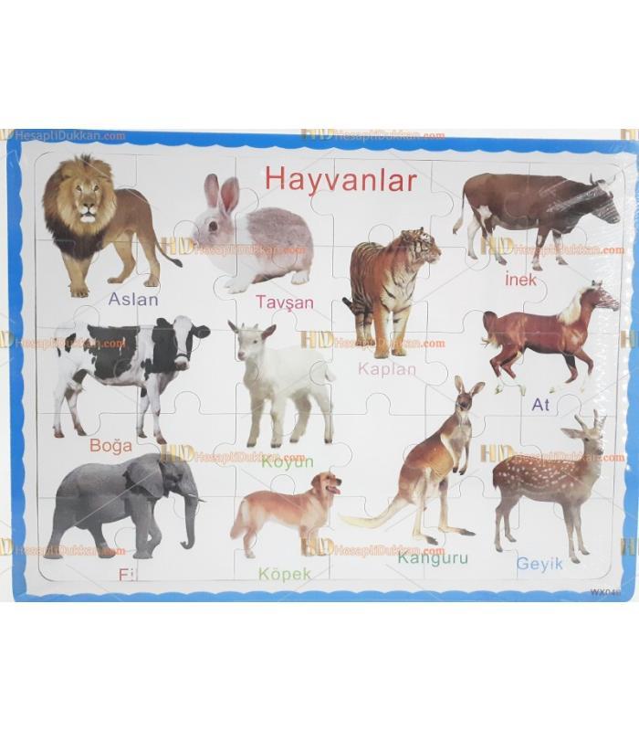 Ahşap puzzle eğitici oyuncak toptan hayvanlar