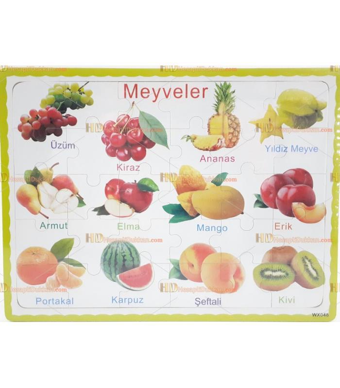 Ahşap puzzle meyveler Türkçe toptan fiyatı