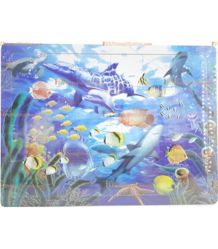 Balıklar ahşap puzzle eğitici oyuncak fiyatı