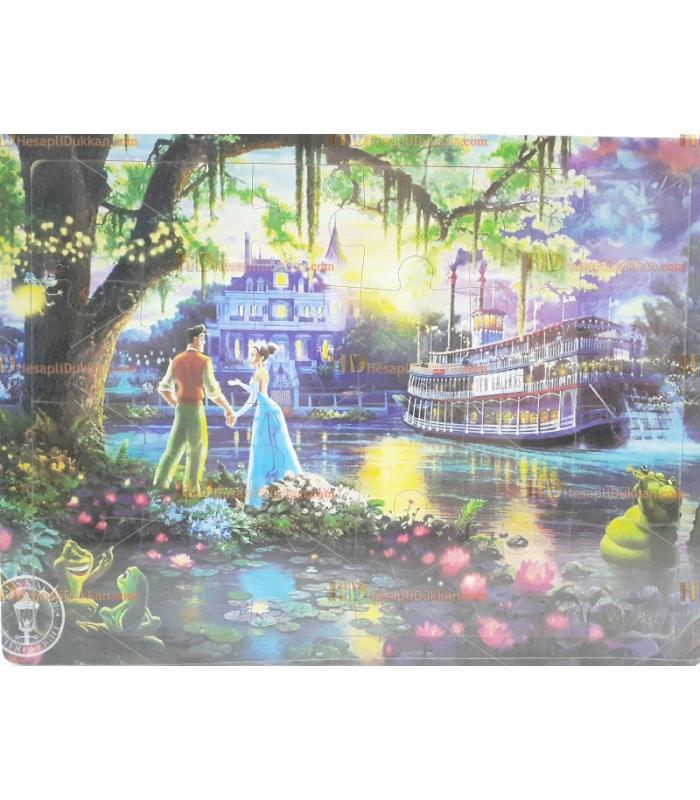 Pamuk prenses eğitici oyuncak ahşap puzzle ucuz fiyat