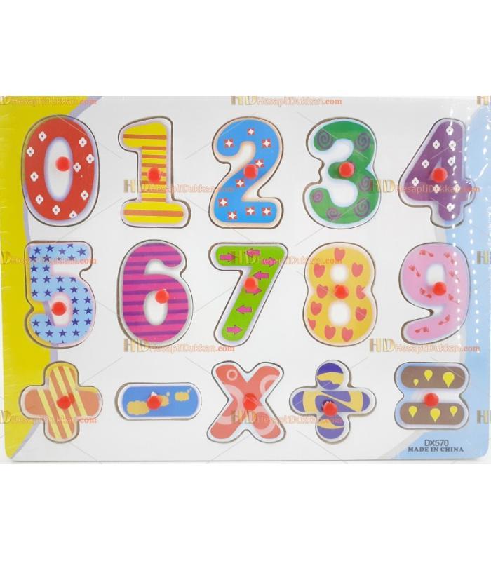 Dokuz rakam işlemler matematik ahşap puzzle