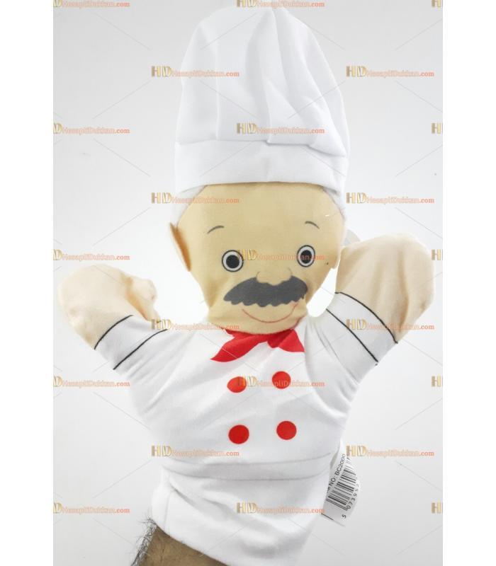 El kuklası promosyon peluş oyuncak meslekler aşçı