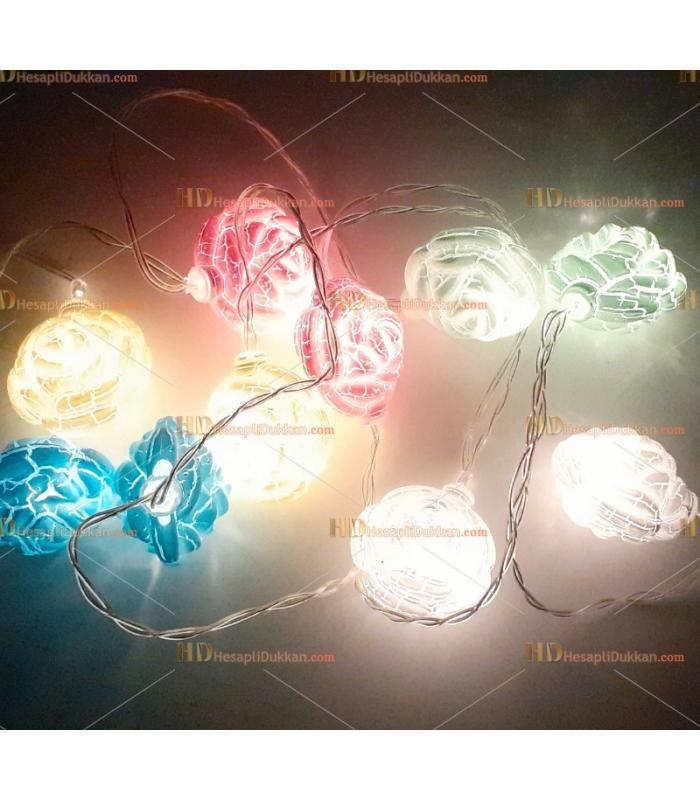 Çiçek yılbaşı ışığı 2 metre 10 led
