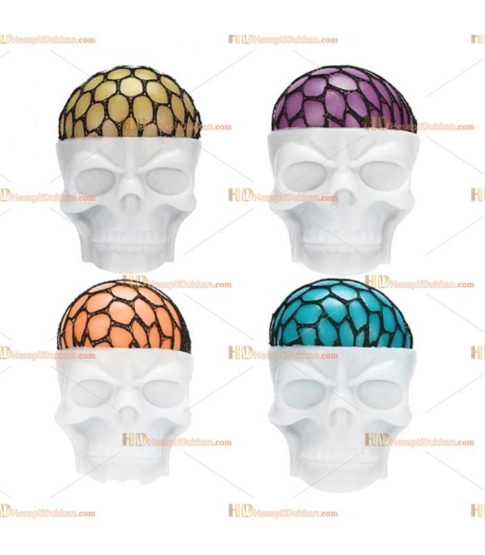 Kuru kafa iskelet beyin fileli sıkma squishy slime top