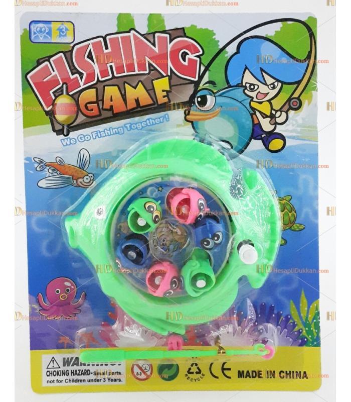 Mini olta balık avlama oyuncak mavi