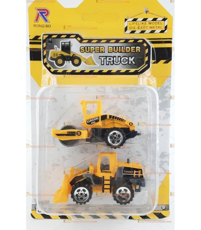 Mini iş makinesi oyuncak araba set silindir dozer