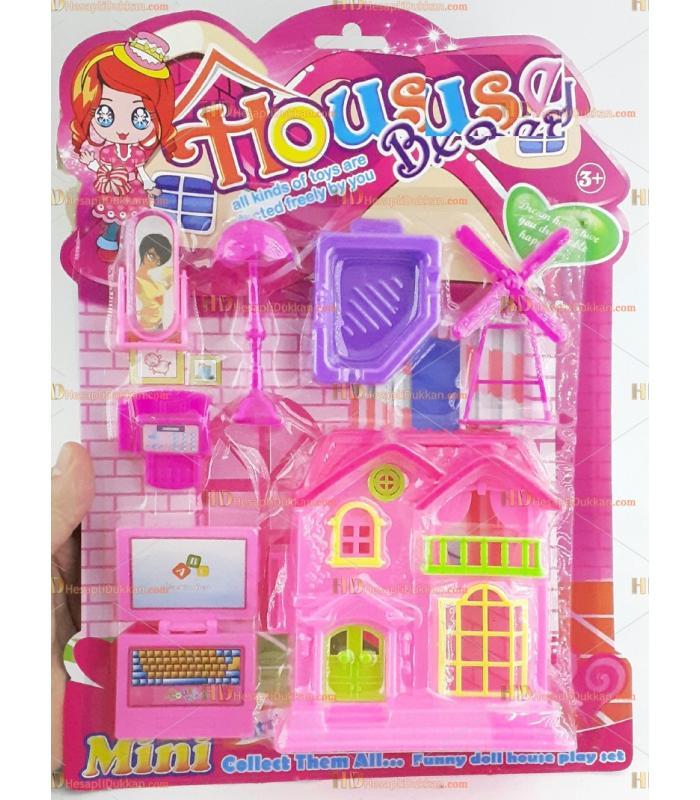 Promosyon oyuncak bebek oyun evi seti