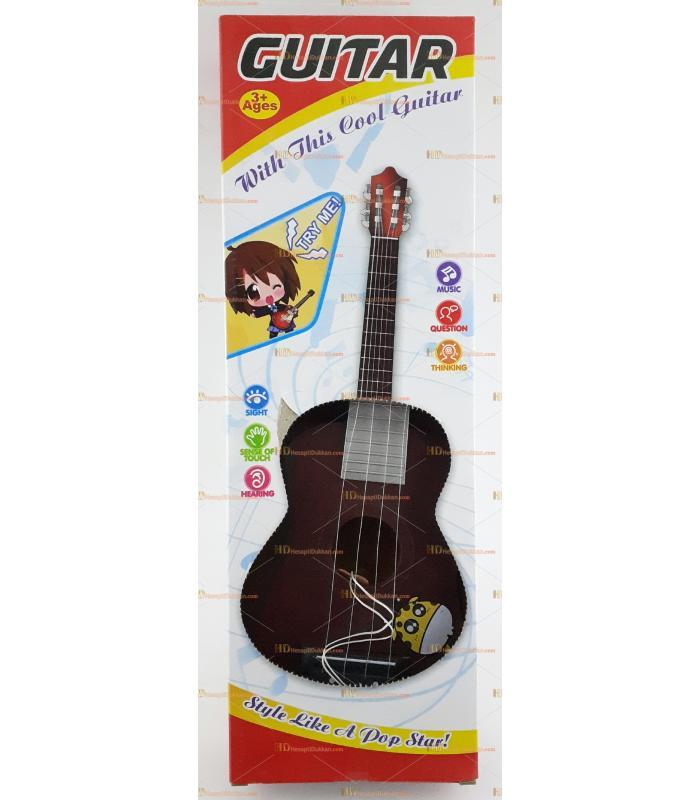 Oyuncak gitar ahşap görünümlü toptan