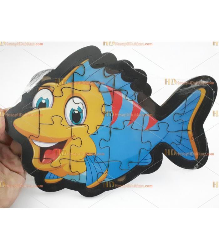 Ahşap puzzle toptan balık
