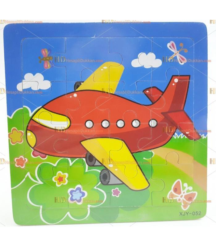 Toptan yapboz puzzle ahşap oyuncak uçak