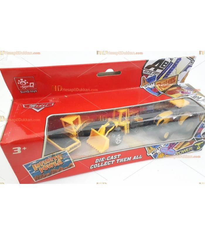 Toptan oyuncak iş makinesi üçlü seti