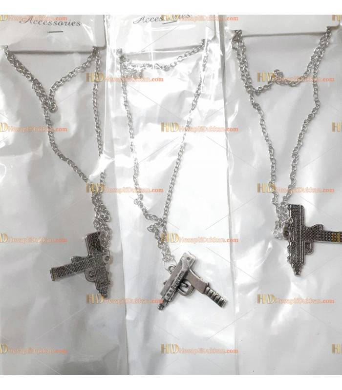 Toptan pubg zincir kolye metal