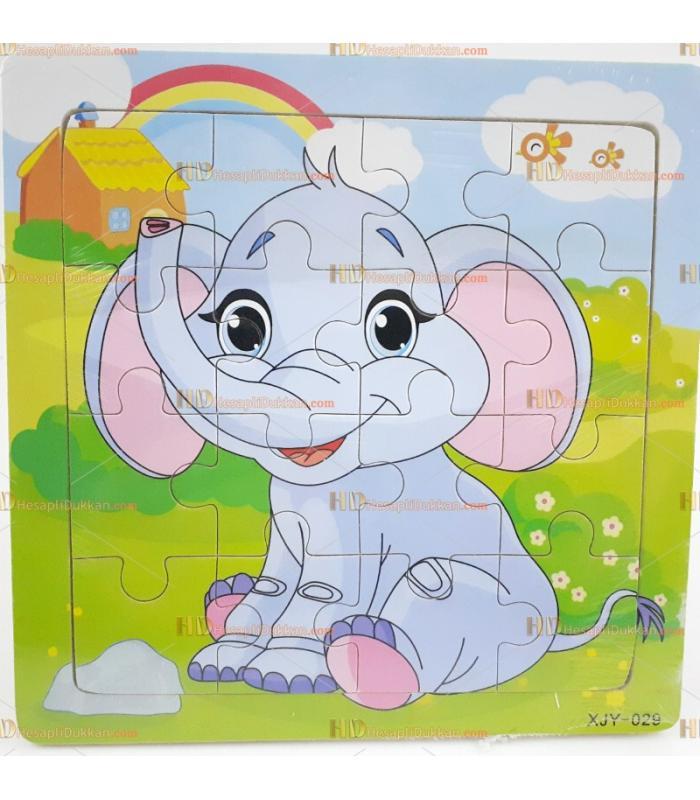 Toptan yapboz puzzle ahşap eğitici oyuncak fil