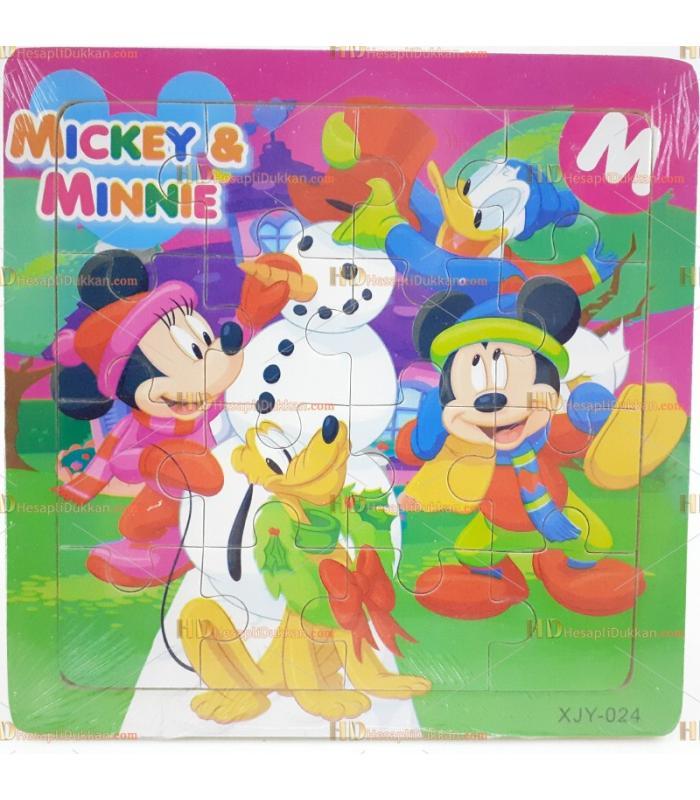 Toptan yapboz puzzle ahşap oyuncak miki mini