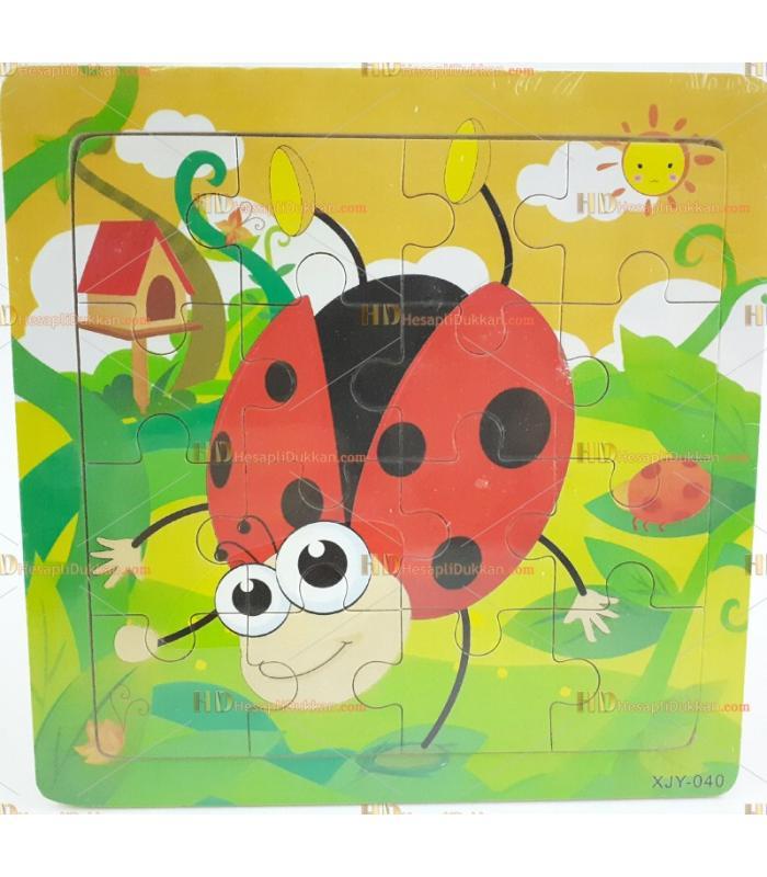 Toptan yapboz puzzle ahşap oyuncak uğur böceği