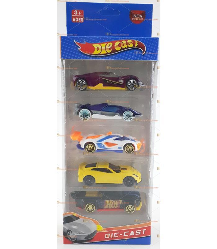 Die cast toptan metal oyuncak spor araba 5 li set