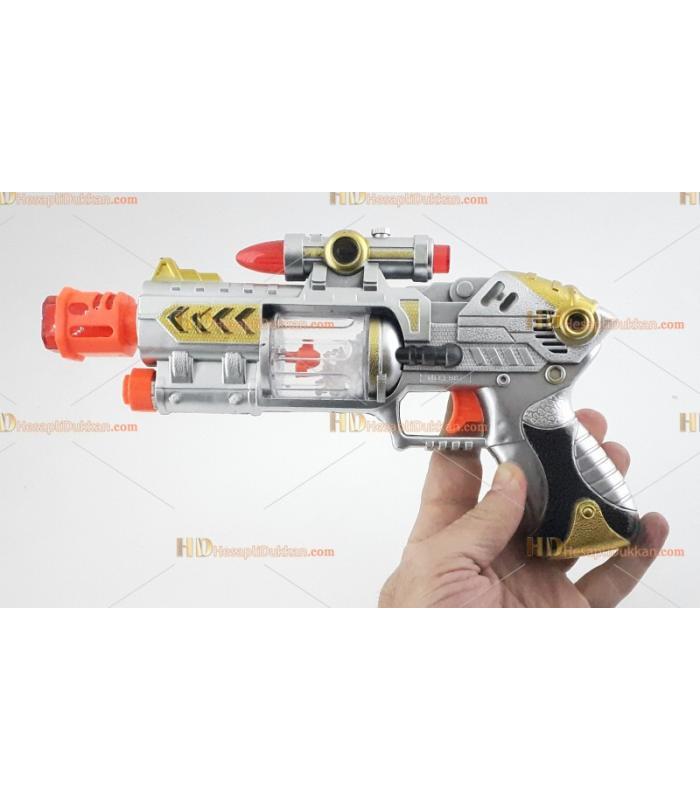 Toptan ışıklı oyuncak tabanca fiyat ucuz istoç satış sesli pilli silah