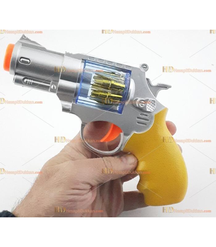 Toptan kısa toplu ışıklı oyuncak tabanca silah pilli sesli