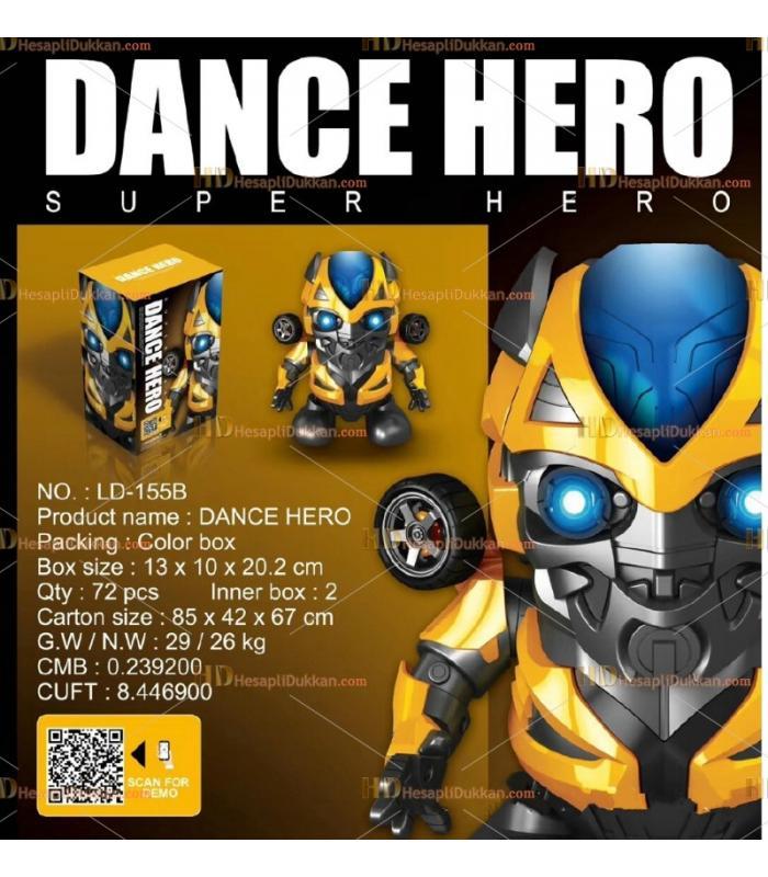 Toptan dans eden kahraman oyuncak robot bumble bee