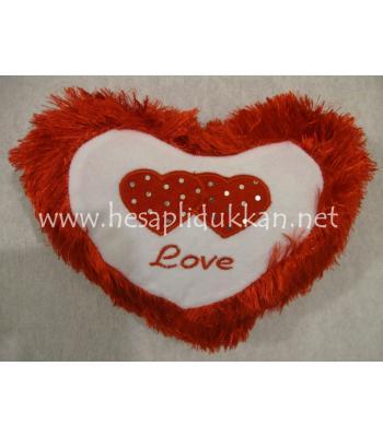 ikili kalp sevgililer günü yastığı minderi P448