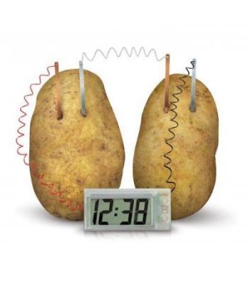 Patates saat organik enerjili pilsiz saat