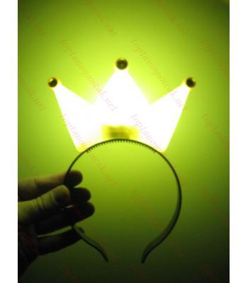 Toptan ışıklı taç kral sarı