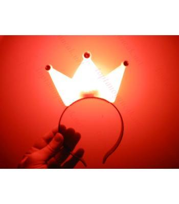 Toptan ışıklı taç kral kırmızı