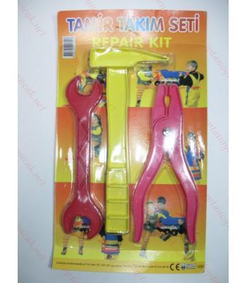 Toptan oyuncak tamir seti üçlü