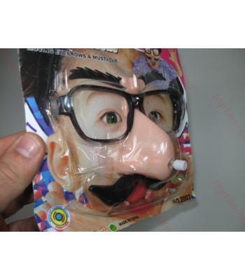 Maske gözlük kurmalı kaşları oynar