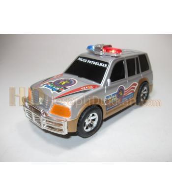 Yüksek sesli polis jeep oyuncak araba