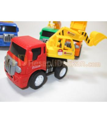 Kırılmaz iş arabaları 4 model standlı toptan oyuncak