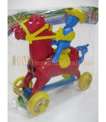 Atlı kovboy çınçın tekerlekli toptan