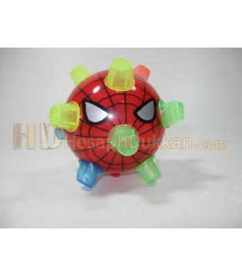 Örümcekli çılgın top ışıklı oyuncak