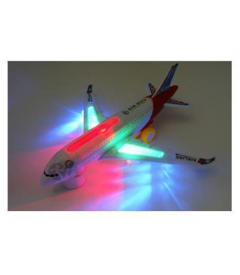 Toptan ışıklı müzikli uçak jumbo büyük boy