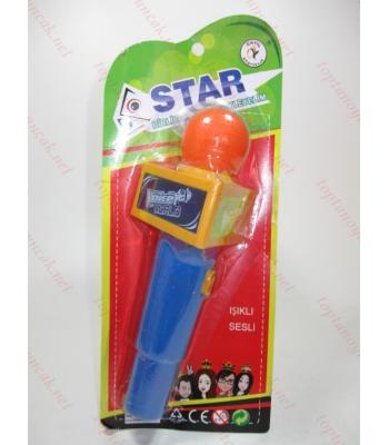 Müzikli ışıklı mikrofon oyuncak toptan