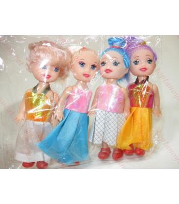 Toptan oyuncak bebek dörtlü paket promosyon