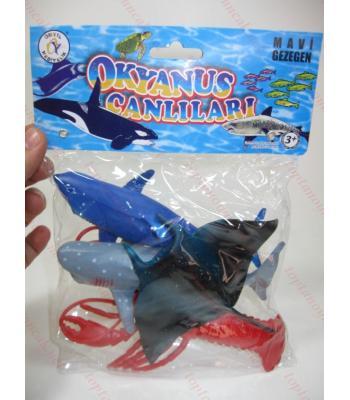 Plastik deniz hayvanları oyuncak toptan