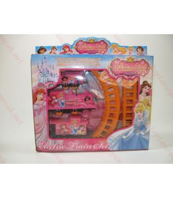 Toptan oyuncak tren prensesli renkli raylı