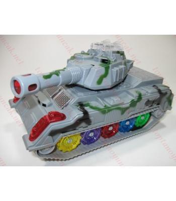 Toptan oyuncak havada dönen tank ışıklı