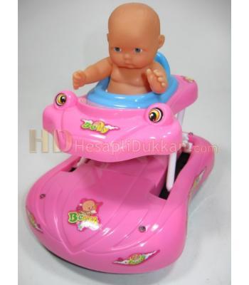 ışıklı müzikli yürüyen bebek arabası toptan oyuncak