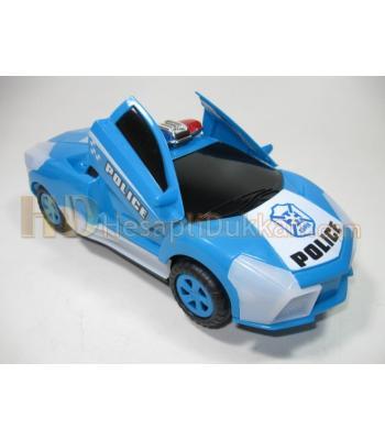Hızla dönen ışıklı sirenli polis arabası oyuncak toptan