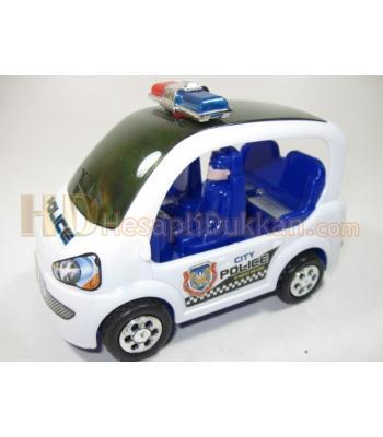 ışıklı müzikli sesli polis arabası küçük model toptan oyuncak