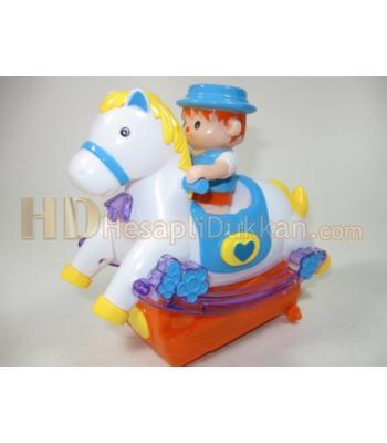 Atlı kovboy pilli ışıklı oyuncaklar toptan
