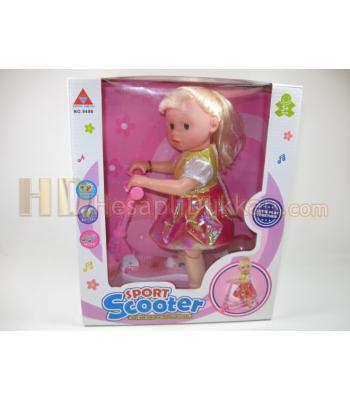 Scooterli gamgam müzikli büyük oyuncak bebek toptan